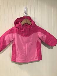 ll bean girls winter coat pink size 12 18 months with grow cuffs