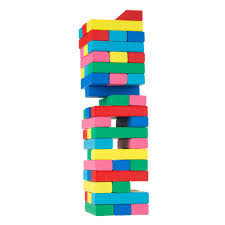 Game Played With Wooden Blocks Classic Wooden Blocks Stacking Game with Colored WoodM100 63