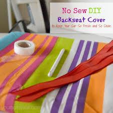 no sew diy backseat cover yoursassyself com