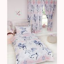 Unicorn Duvet Cover Sets Kids Girls Pink Purple Junior Single Picture On  Stunning Bedding For Of ...
