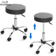 bar stool with wheels. New Synthetic Leather Round Barstool Adjustable High Wheels Bar Stool Modern Chair Black N20*-in Stools From Furniture On Aliexpress.com | Alibaba Group With O