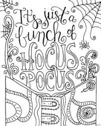 this hocus pocus coloring page will put a spell