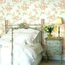 Vintage Wallpaper Bedroom Vintage Wallpaper Bedroom Country Style Bedroom  Decorated With Floral Wallpaper And Flower Vase . Vintage Wallpaper Bedroom  ...