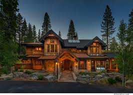 rustic mountain home designs. Modern Rustic Mountain Home Design Features Chic Wood And Stone House With Black Siding Designs