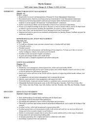 Event Management Resume Samples Velvet Jobs