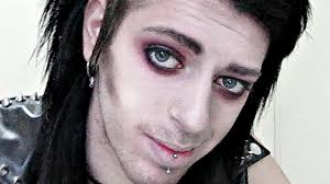 red goth rock star makeup tutorial for guys inspired by chris motionless you
