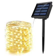 Solar String Lights Ankway 200 Led Fairy Lights 8 Modes 3 Strands