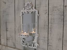 ornate mirrored candle holder wall sconce melody maison
