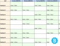 microsoft employee schedule template staff scheduling template woodnartstudio co