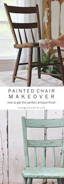 Painted Chair for Outdoors