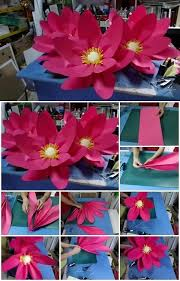 Glace Paper Flower Diy Large Paper Lotus Flower Looks So Realistic Ideal For