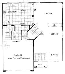 KB Model 2760 Down Stairs Floor Plan