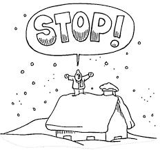 Winter Stop Kleurplaat Gratis Kleurplaten Printen