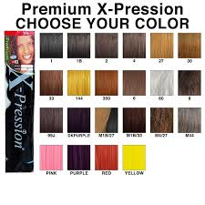Purple Pack Hair Color Chart X Pression Premium Original Sensationnel Pack Of 3 Dark Purple