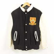 men m vintage wam1230 in the 70s made in avon sportswear sleeve leather wool award