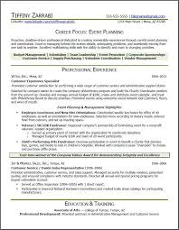 Sample Career Change Resume Event Planner Resume Event Planner Resume Career Transition