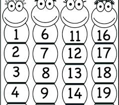 Number Coloring Pages 1 10 Numbers Coloring Sheets T Preschool