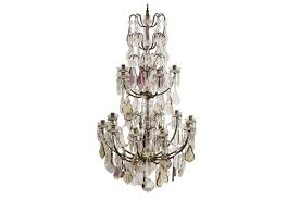 large antique french chandelier with crystal leaf prisms for at pamono