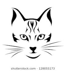 cat face drawing. Brilliant Cat Black Silhouette Of Cat Vector Illustration Inside Cat Face Drawing W