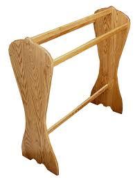 Oak Wood Large Quilt Rack & Amish Oak Wood Large Quilt Rack Adamdwight.com