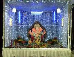 simple and beautiful decoration backdrop for ganesh festival i