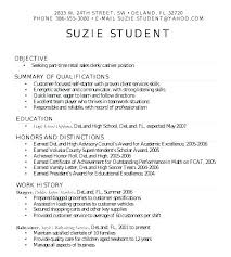 Sample Resume High School Graduate Delectable Simple Student Resume Format Putasgae