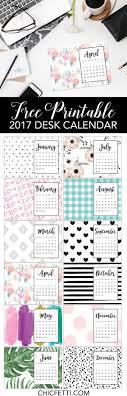 free printable calendar 2017 chicfetti blog