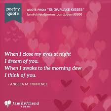 Snowflake Love Quotes Amazing Snowflake Kisses Romantic Valentine's Day Poem