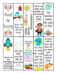 Bible verse bookmarks for kids. Printable Bible Bookmarks For Kids
