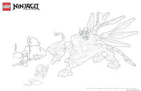 Collection Ninjago Golden Dragon Coloring Pages Pictures