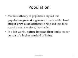 malthus population • malthus s theory