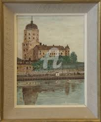 the castle of vyborg painting 35x28 cm 1956 by o rönnberg realism