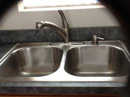 kitchen with only one sink a double bowl