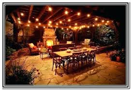 outdoor patio lights strings stringing string ideas