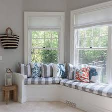 Mudroom with Curved Window Seat Bench