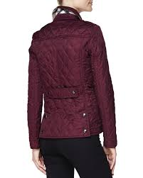Burberry Brit Quilted Snap Jacket, Dark Claret & Quilted Snap Jacket, Dark Claret Adamdwight.com