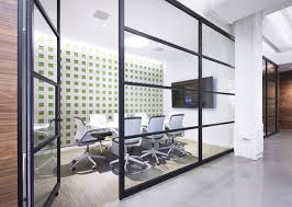 office front glass swing fixed