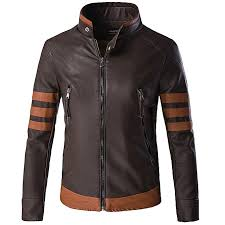 plus size dark brown motorcycle leather jacket