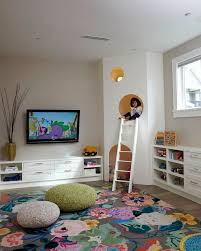 play room furniture. kids playroom large floral area rug knit poufs custom play house with white ladder room furniture