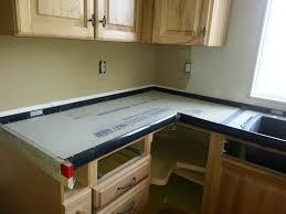 forms 1st pour using concrete countertop
