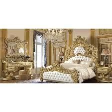 Homey Design HD-8086 4pc California King Bedroom Set in White ...