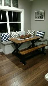 kitchen nook furniture. My Husband Built This Table And Bench Seating For Nook Area. I Just Love It! Kitchen Furniture Y
