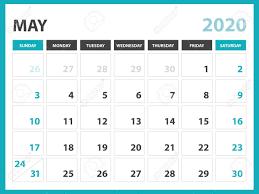 Template For 2020 Calendar Desk Calendar Layout Size 8 X 6 Inch May 2020 Calendar Template