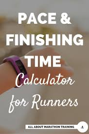Pace Calculator Miles Split Chart For Half Full Marathoners