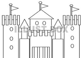 無料イラスト お城の塗り絵