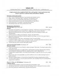 Legislative Assistant Cover Letter Example