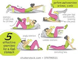 Stomach Exercise Chart Abdominal Exercise Images Stock Photos Vectors Shutterstock