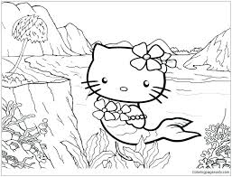 Hello kitty (full name kitty white) is a fictional character produced by the japanese company sanrio. Annette Lux Free Coloring Pages Coloring Pages Hello Kitty Mermaid