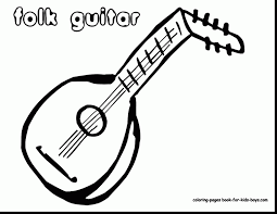 Small Picture Surprising black and white guitar clip art with guitar coloring