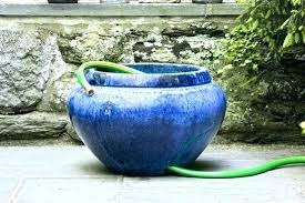 garden hose pot with lid. Copper Garden Hose Holder Pot Finish Picturesque With Lid